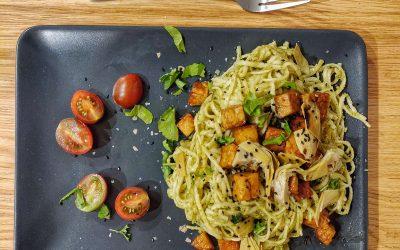 Basil pesto with whole foods